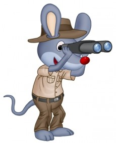 myszka podroznik mini