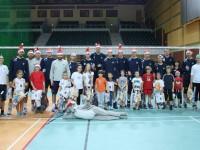 Trening Szkółki Siatkarskiej z drużyną AZS PW